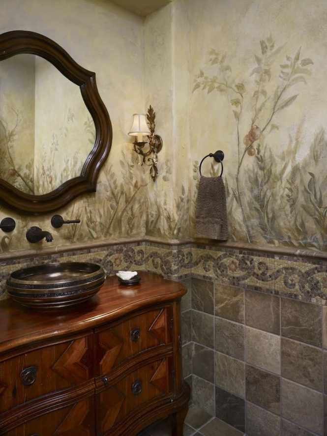mural bath residential fresco
