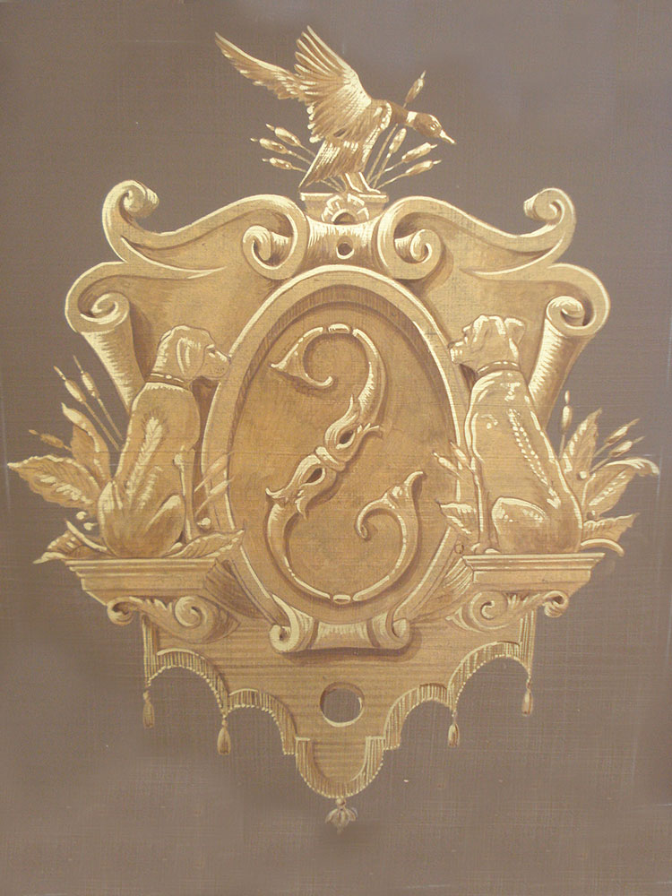 Curate ornament gold paint