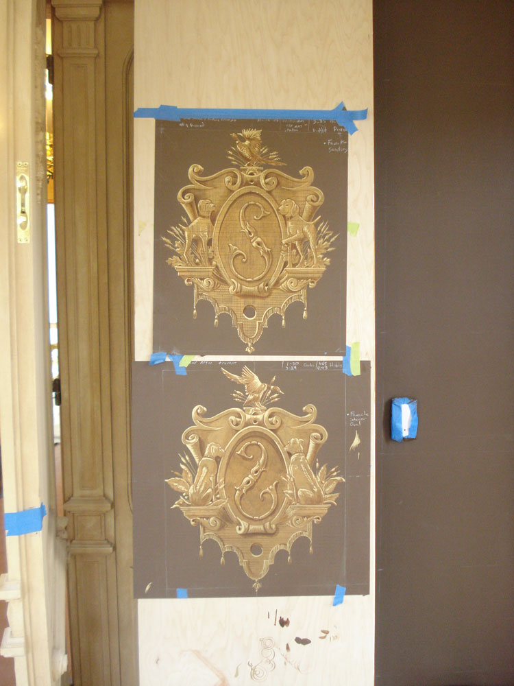 Decorative painting sample