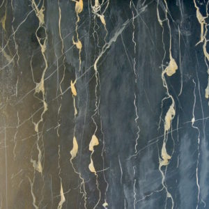 Hand painted Port Oro marble