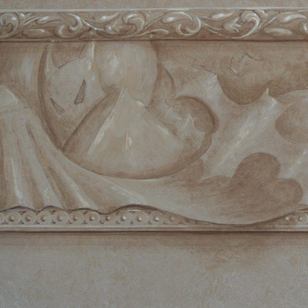 trompe l'oeil ornamentation hand painted