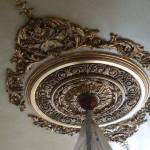 Gilded ceiling ornament, appliqué