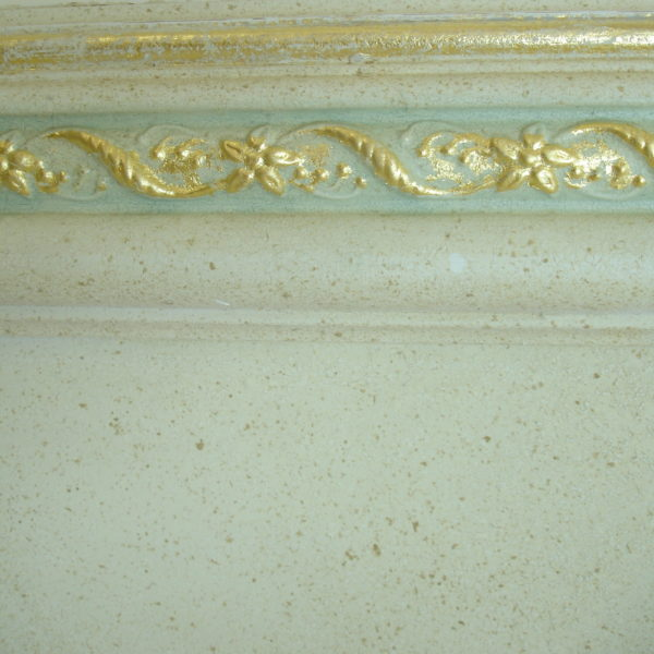 Gold leaf accents