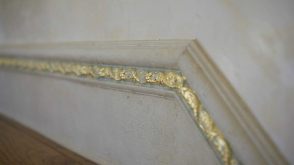Gilded ornament on ceiling
