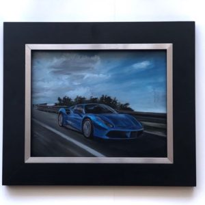 Ferrari oil on linen painting