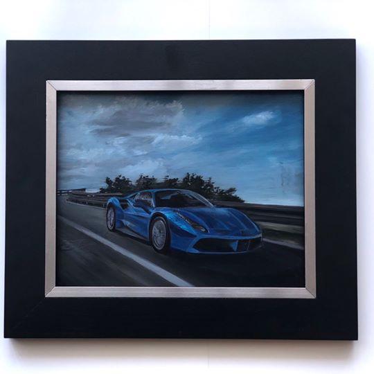 Ferrari oil on linen painting