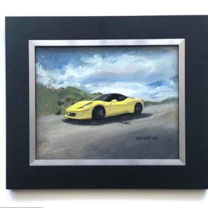 oil painting Ferrari luxury cars