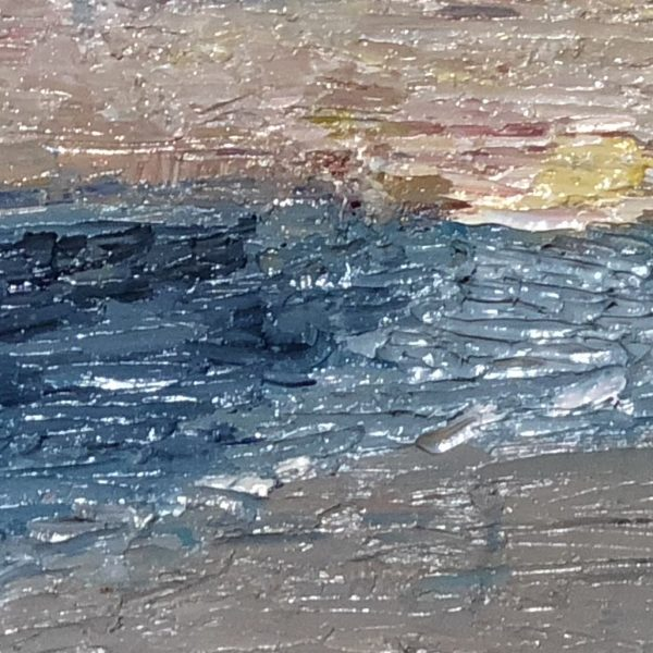 impressionism oil painting island water