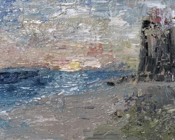 impressionist island oil on linen