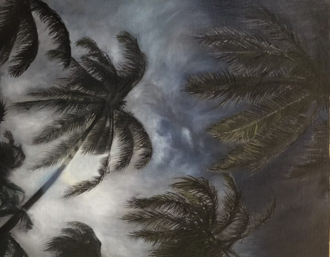 Detail Dark Palm, oil painting by André