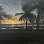 Oil painting, fine art, End of Night