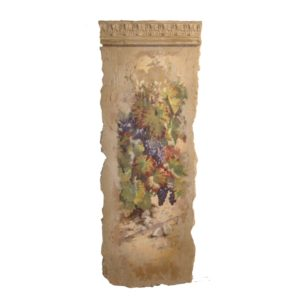 Plaster frieze with painted grapes